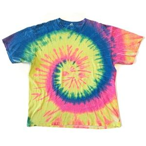 Vintage 90's Anvil Tye Dye Colorful T shirt Top XL